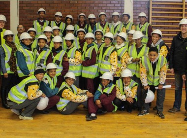 Learners from Loeriesfontein High School visit the Wind Farms