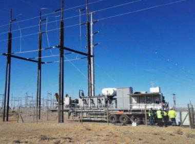LOERIESFONTEIN WIND FARM CONNECTS MOBILE TRANSFORMER